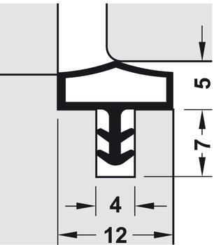 Deventer M680 Joint de porte Blanc 5/m